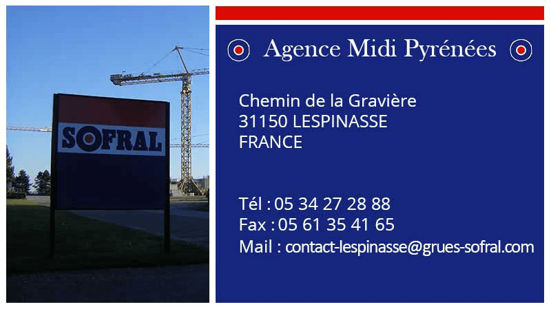 SOFRAL : Agence Toulouse - 31 Lespinasse